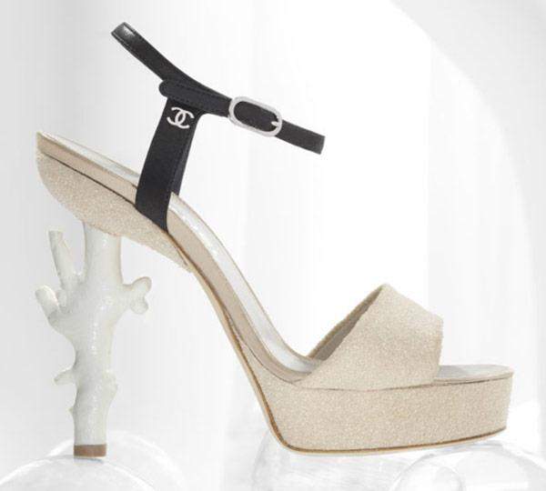 Chanel dives into spring with a coral-heeled sandal - TalkShoes - The Shoe Blog
