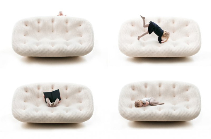Contemporary sofa design: Ploum by Ronan & Erwan Bouroullec for Ligne Roset | Contemporary & Modern Furniture Ideas @ Furnime.com