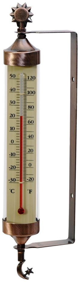 Amazon.com: AcuRite 02309 Weathered Copper Tube Thermometer with Sun and Moon Accents: Home & Kitchen