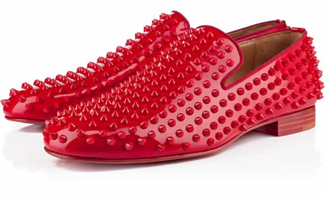 rollerboy mens flat red patent leather