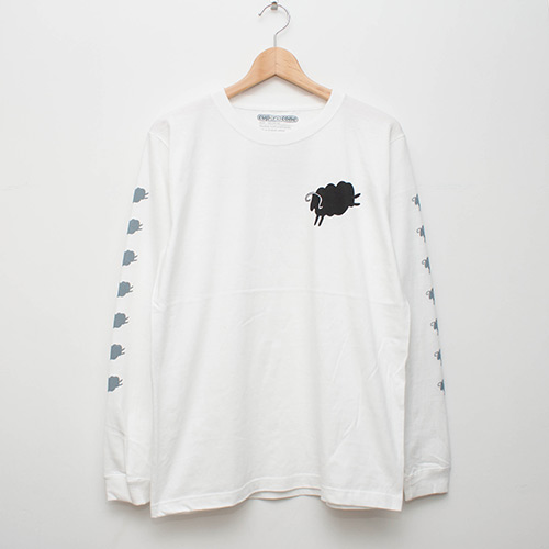 7 Sheeps L/S - White - cup and cone WEB STORE