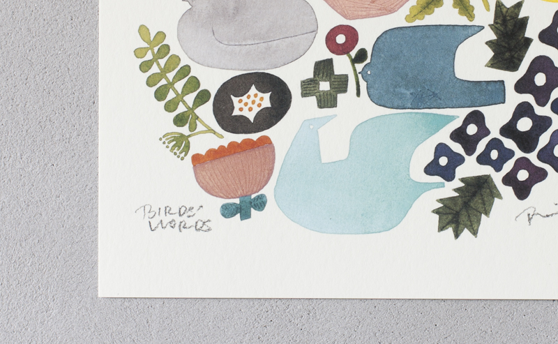 BIRDS'WORDS / POSTER20 [BIRDS AND FLOWERS] / ポスターのみ
