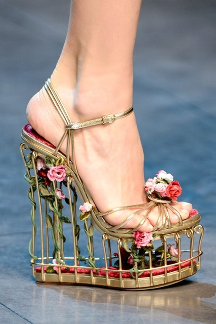 Dolce & Gabbana floral cage heels | AnOther Loves