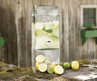 Recycled Glass Drink Dispenser - New to Tabletop - Tabletop - NapaStyle