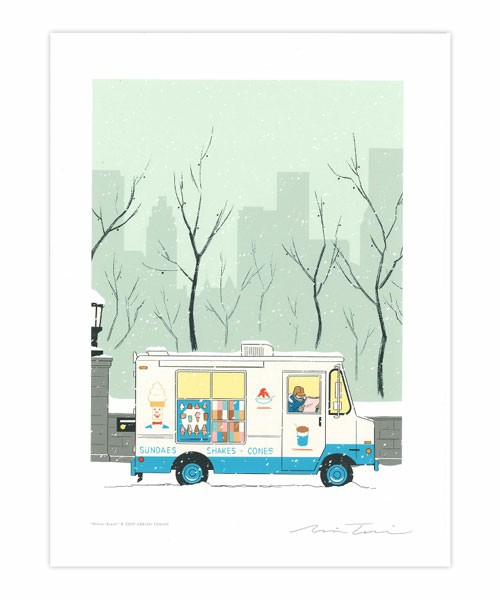 """TOKYO CULTUART by BEAMS(トーキョー カルチャート by ビームス) - ADRIAN TOMINE / POSTER """"Winter Break""""(ポスター/アート) ビームス公式通販[BEAMS Online Shop]"""