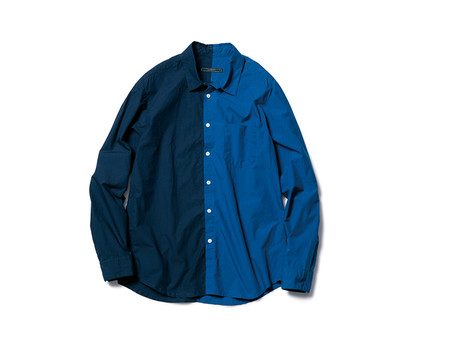 SPLIT REGULAR COLLAR SHIRT