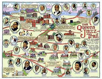 Queens Jazz Trail Map