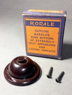"""1940-50's """"RODALE"""" Doorbell Push Button - FUNNY SUPPLY"""
