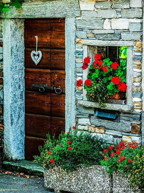 Wooden Door, Tessin, Switzerland | The Best Travel Photos