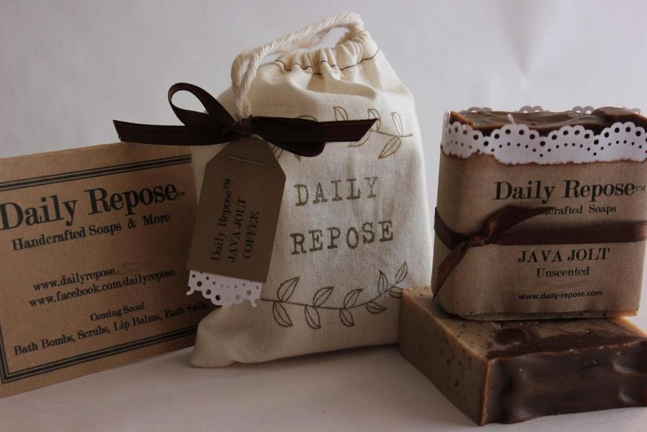 Coffee Soap 100% Natural Handmade In Bag With Tag Vegan on Luulla