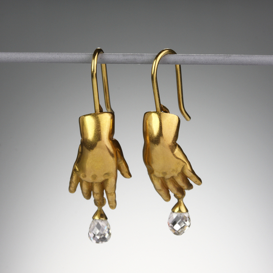 Quadrum - Gabriella Kiss - Baby Hand with Diamond Earrings
