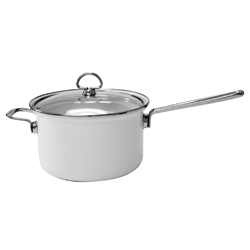 Chantal Cookware | Covered Saucepan Stainless Handle