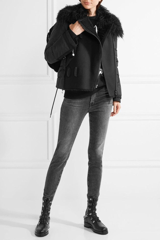 Moncler   Grace shearling-trimmed quilted shell down jacket   NET-A-PORTER.COM