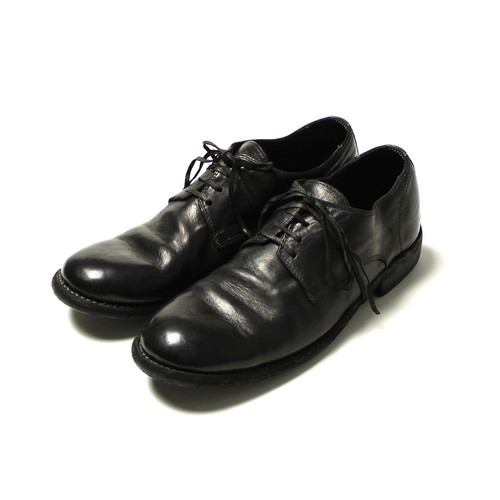 GUIDI / Low Lace Shoes - Horse / Black / 992 | STARLING online store