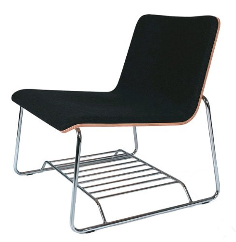 Amazon.com: Offi Perch Lounge Chair in Charcoal Gray Wool with Birch Veneer: Home & Kitchen