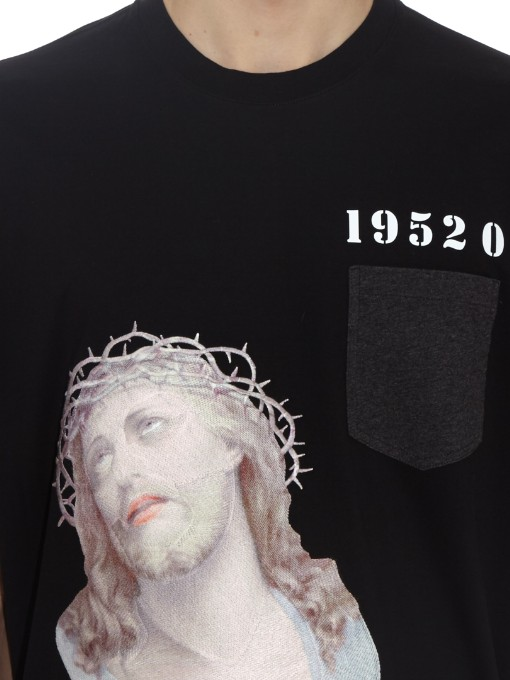 Embroidered 1952 Jesus print cotton-jersey T-shirt | Givenchy | MATCHESFASHION.COM