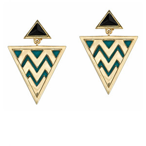 HOUSE OF HARLOW Leather Gold Tribal earrings(8795434):BUYMA (バイマ)