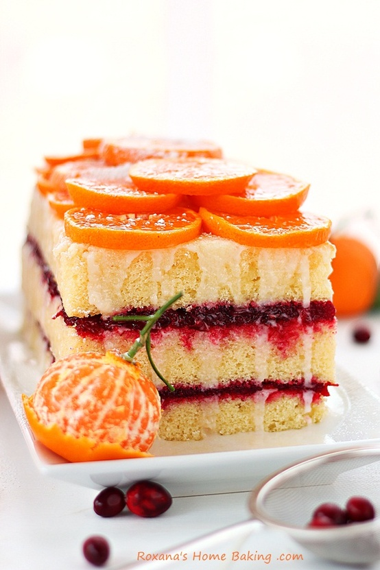∴‥∵‥cake∴‥∵‥ / Citrus Cranberry Layered Cake