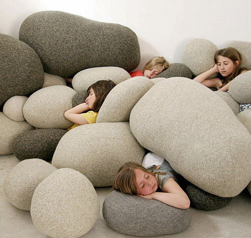 Livingstones Over Sized Pebble Pillows from Smarin