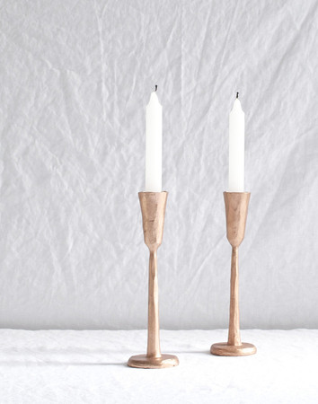 HANDFORGED COPPER CANDLESTICK