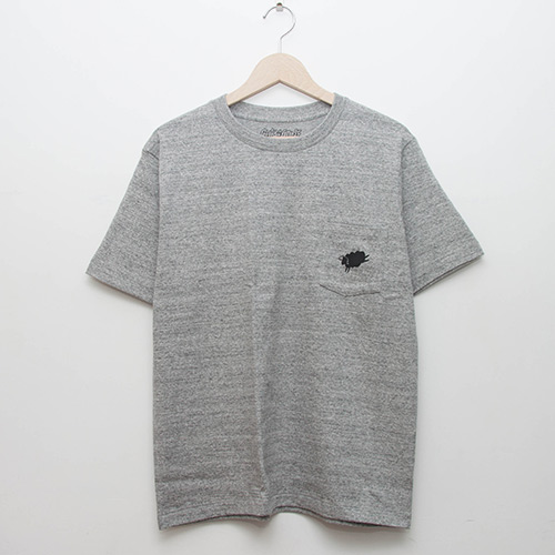 Heavy Cotton Pocket Tee - Grey - cup and cone WEB STORE