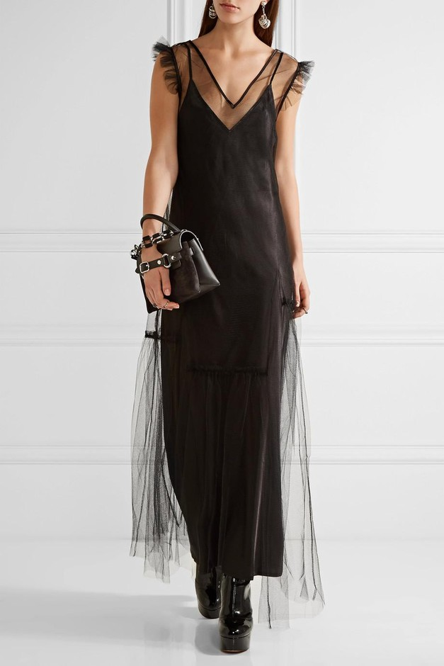 Opening Ceremony | Ruffle-trimmed tulle maxi dress | NET-A-PORTER.COM