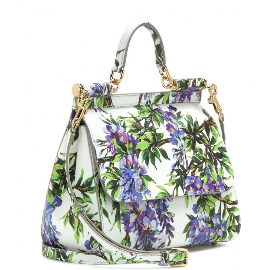 mytheresa.com - Mini Miss Sicily printed leather tote - Current week - New Arrivals - Dolce & Gabbana - Luxury Fashion for Women / Designer clothing, shoes, bags