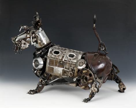 Steampunk Sculptures by James Corbett, The Car Part Sculptor | Oddity Central - Collecting Oddities