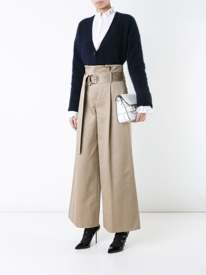 Le Ciel Bleu Belted High-waisted Trousers - Restir - Farfetch.com
