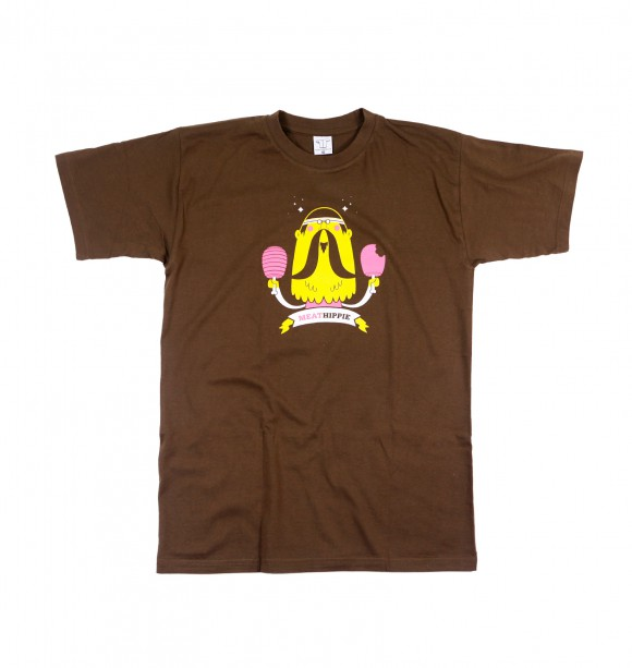 Printed and original Tee-Shirt - Meat Hippie - FUNKRUSH | Selected by GRAFITEE