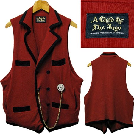 A Child Of The Jago 2010 A/W Collection Trim Waistcoat Red×Black | IST-romantist