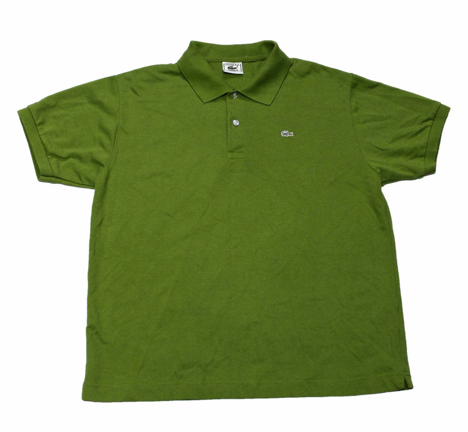lacoste vintage green lacoste polo shirt made in france mens size large sumally. Black Bedroom Furniture Sets. Home Design Ideas