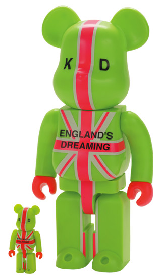 BE@RBRICK 25 - ENGLAND'S DREAMING KD BE@RBRICK 100% & 400%