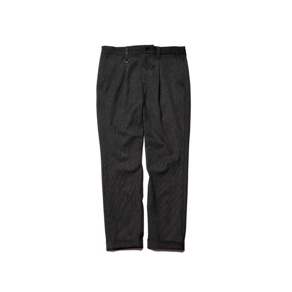 SOPH. | DOUBLE CUFF SLIM FIT 1TUCK PANTS(S CHARCOAL GRAY):