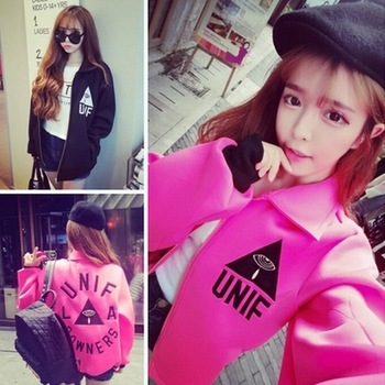 2014 autumn space cotton sweatshirt cardigan wear zipper embroidery harajuku fashion women's coat pink black two color optional-inBasic Jackets from Apparel & Accessories on Aliexpress.com | Alibaba Group