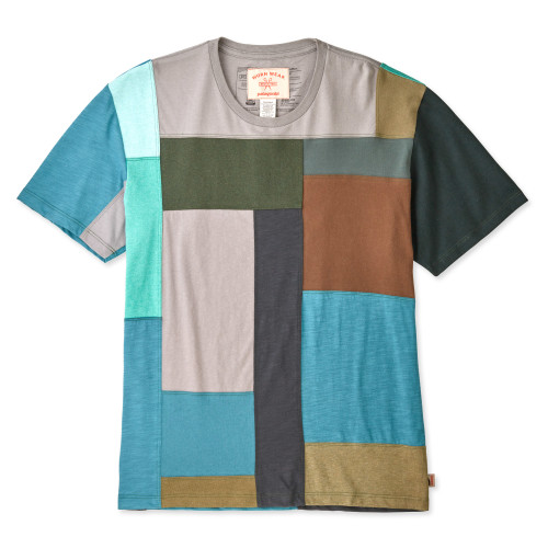 Patagonia Worn Wear ReCrafted M's T-Shirt Green / Brown - Used