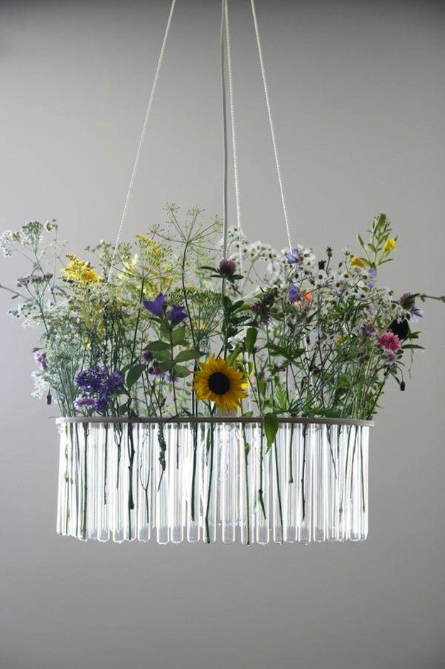 Garden in the Sky: Test Tube Chandeliers from Poland: Remodelista