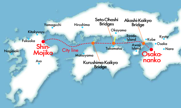 Route map & Time table - CITY LINE-MEIMON TAIYO FERRY