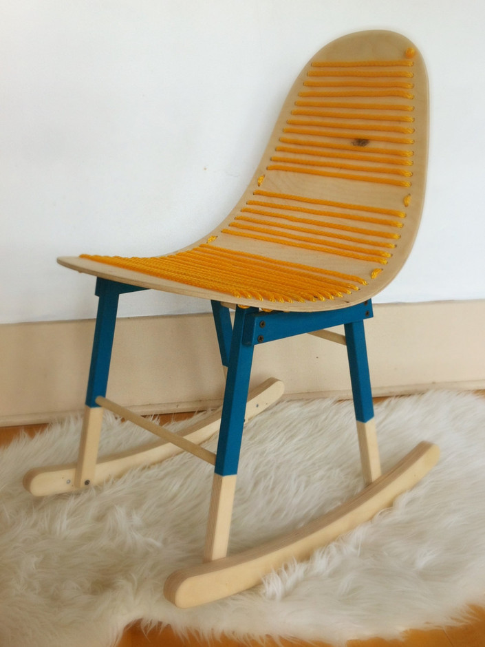 The Charlie Childrens molded ply rocking chair by HandmadeRiot