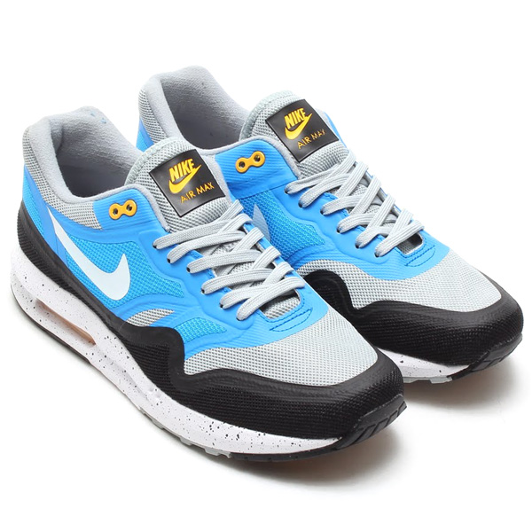 NIKE AIR MAX LUNAR1 SILVER WING/WHITE-PHT BLUE-BLK - Mens ShoesNIKE RUNNINGAIR MAX 1 - |Sports Lab by atmos