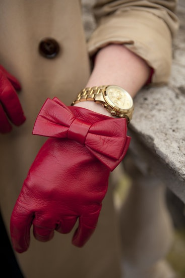 gLOVE Me Forever / red bow gloves