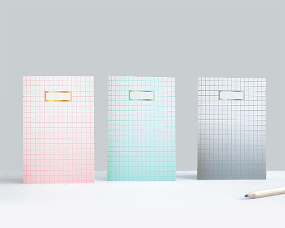 Ombre Grid Notebooks x 3 by SketchInc on Etsy