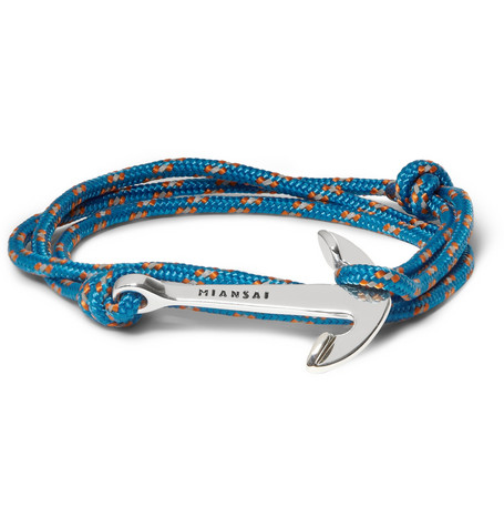 Miansai Utility Rope and Anchor Bracelet | MR PORTER