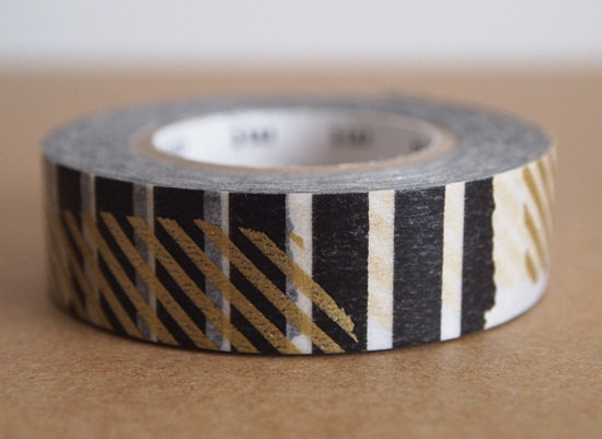 Japanese masking tape gold black stripe patchwork For by jamroll