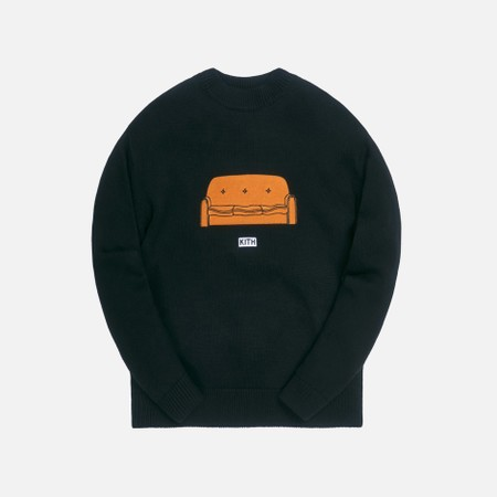 KITH FOR THE SIMPSONS COUCH INTARSIA SWEATER  BLACK