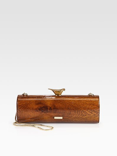 Saks.com - Kate Spade New York - Woodpecker Wood-Printed Patent Leather Clutch