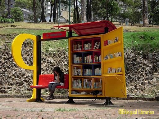 Libraries / Bogotá, Colombia is setting up mobile libraries at bus stations and in parks.