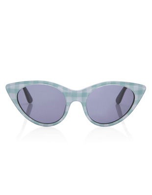 Opening Ceremony Cat Eye Sunglasses In Seafom Gingham « SHEfinds