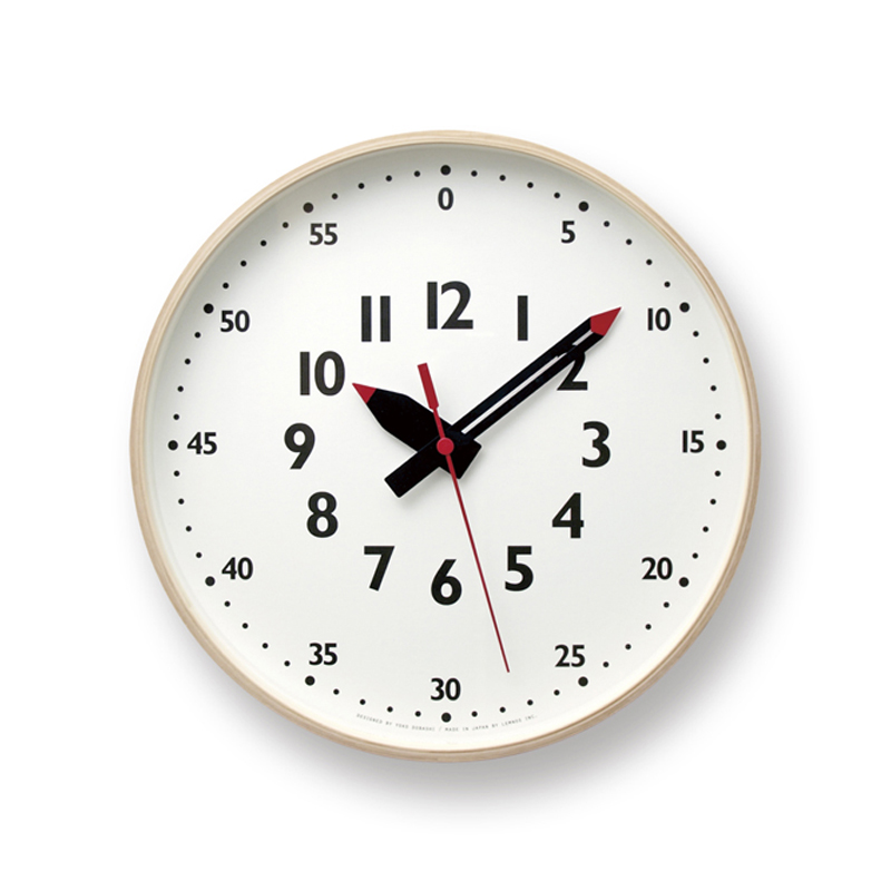 fun pun clock / Mサイズ (YD14-08M) | KID'S+MODERN,Yoko Dobashi | | TAKATA Lemnos online shop