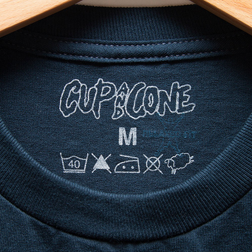 Logo Tee - Navy x White [Relaxed Fit] - cup and cone WEB STORE
